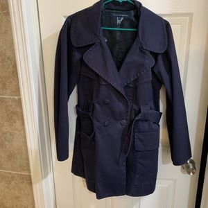 French Connection blue raincoat